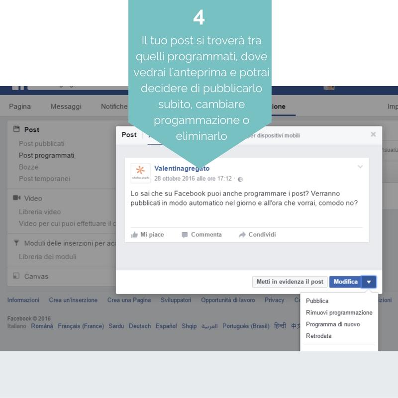 programmare post su Facebook 4